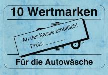 Zehnerwertmarken Autowäsche