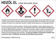 Gefahrstoffaufkleber (Heizöl EL) für alle Gebinde