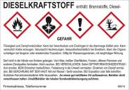 Gefahrstoffaufkleber (Dieselkraftstoff) für Reservekanister und andere Gebinde