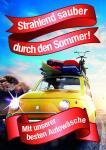 "Plakat Autowäsche ""Sommer"""