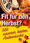 """Plakat Autowäsche """"Herbst"""""""