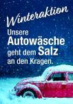 """Plakat Autowäsche """"Winter"""""""