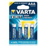 Varta High Energy, LR03, AAA, Micro, 4er Blister (5 Stück)