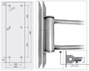 Gegenplatte für easywash365+ Schwenkarm