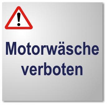 Motorwäsche verboten Schild