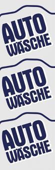"""Fahne """"Autowäsche"""" (3 Motive) 150 x 400 cm"""
