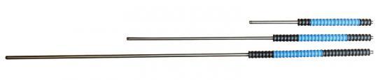 """Strahlrohre """"iso-turn77"""" mit drehbarem Griff, Farbe schwarz/blau 1.000 mm, Isol. 400 mm"""