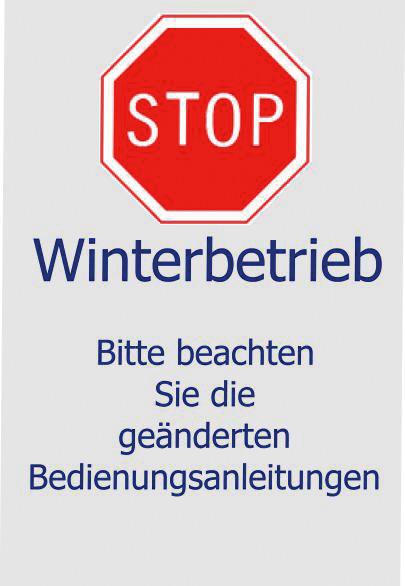 "Einleger ""Winterbetrieb"""