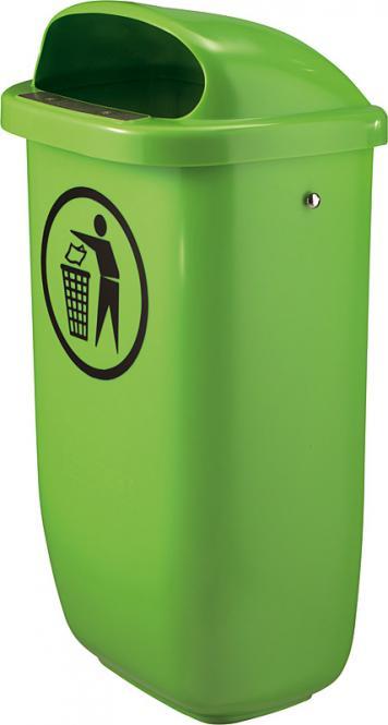 Abfallbehälter nach DIN 30713 mit Haube